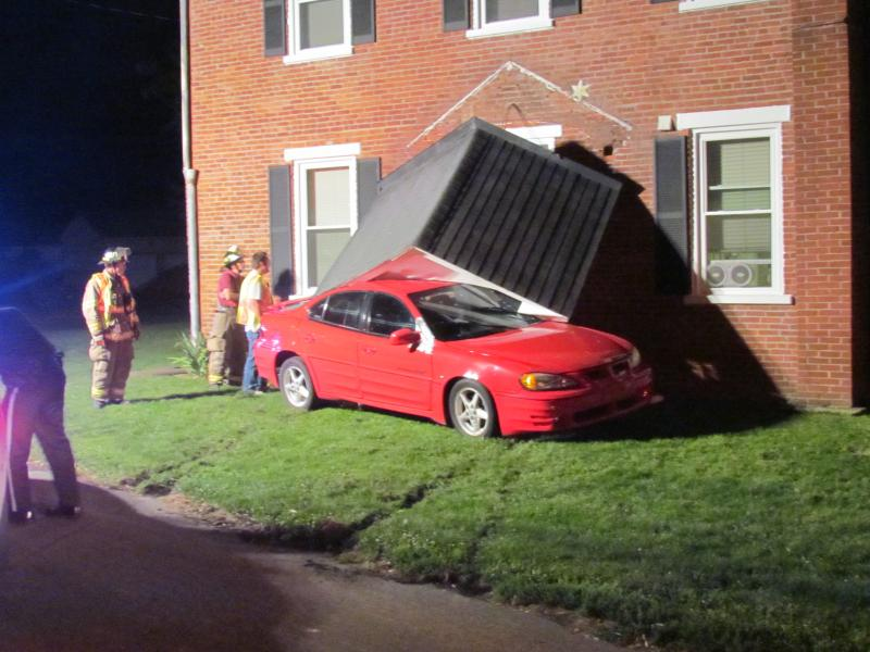 Vehicle Into A Building Along Horseshoe Road